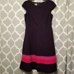 Anne Klein Size 8 Fit & Flare Dress w/ Cap Sleeve